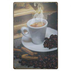 Coffee Pattern Retro Metal Painting for Cafe Bar Restaurant Wall Decor -