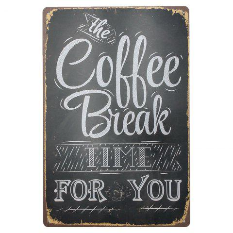 Latest Coffee Retro Style Metal Painting for Cafe Bar Restaurant Wall Decor