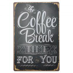 Coffee Retro Style Metal Painting for Cafe Bar Restaurant Wall Decor -