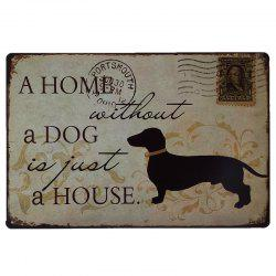 Dog Stamps Retro Style Metal Painting for Cafe Bar Restaurant Wall Decor -