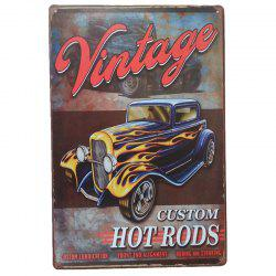 Vintage Car Style  Metal Painting for Cafe Bar Restaurant Home Wall Decor -