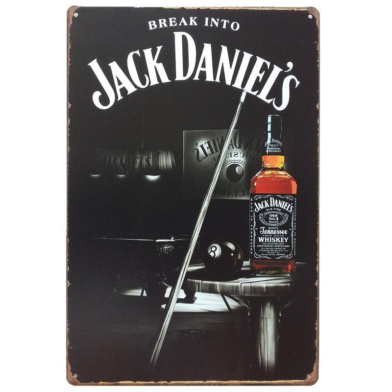 Whiskey Vintage Style  Metal Painting for Cafe Bar Restaurant Wall DecorHOME<br><br>Color: BLACK;