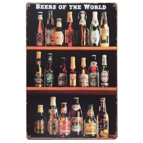 Outfits Beers of the World Vintage Style  Metal Painting for Cafe Bar Restaurant Wall Decor