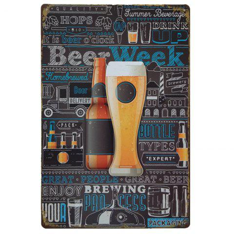 Sale Creative Beers Poster  Metal Painting for Cafe Bar Restaurant Wall Decor