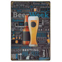 Creative Beers Poster  Metal Painting for Cafe Bar Restaurant Wall Decor -