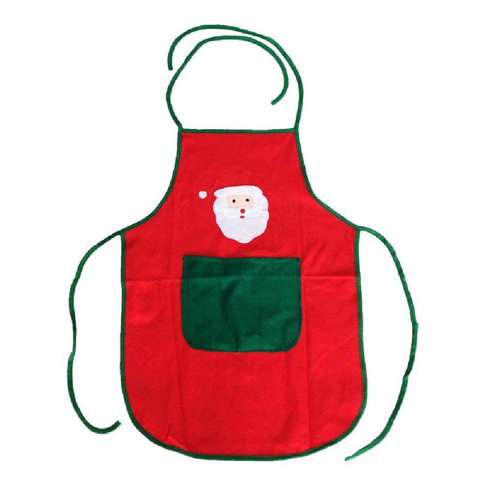 YEDUO Nonwoven Santa Claus Apron Free Size for Birthday / Christmas DayHOME<br><br>Color: RED; Brand: YEDUO; Usage: Christmas;