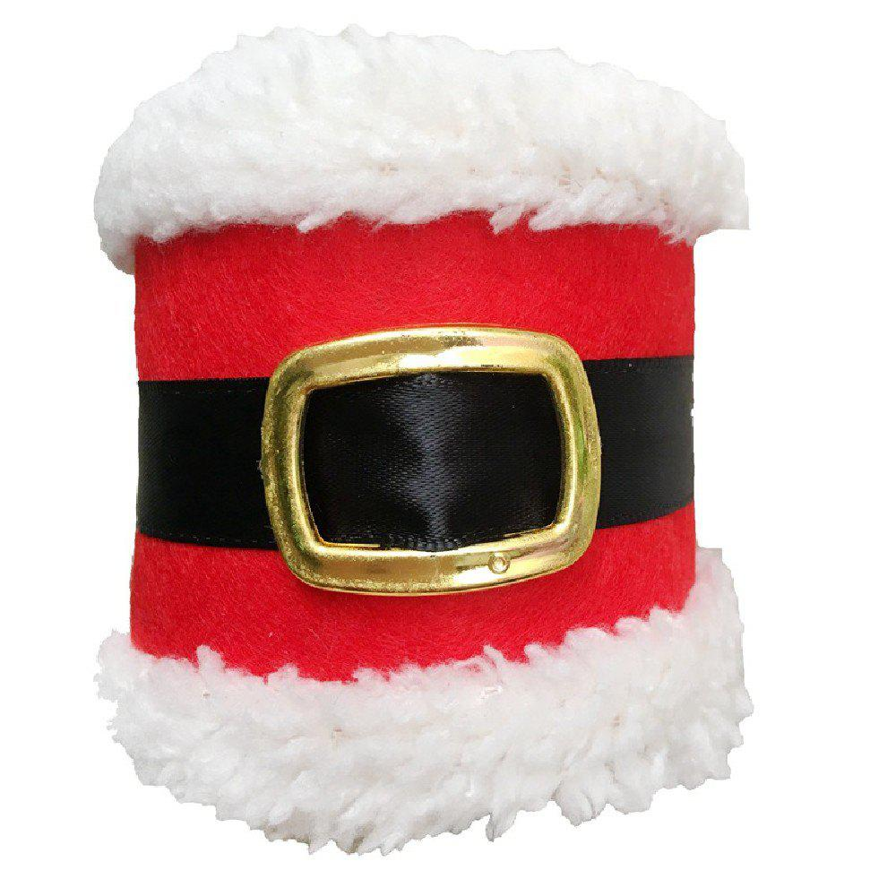 YEDUO Christmas Belt Buckle Shape Napkin Package Decoration for Home PartyHOME<br><br>Color: RED; Brand: YEDUO; For: Friends,Kids; Usage: Christmas;