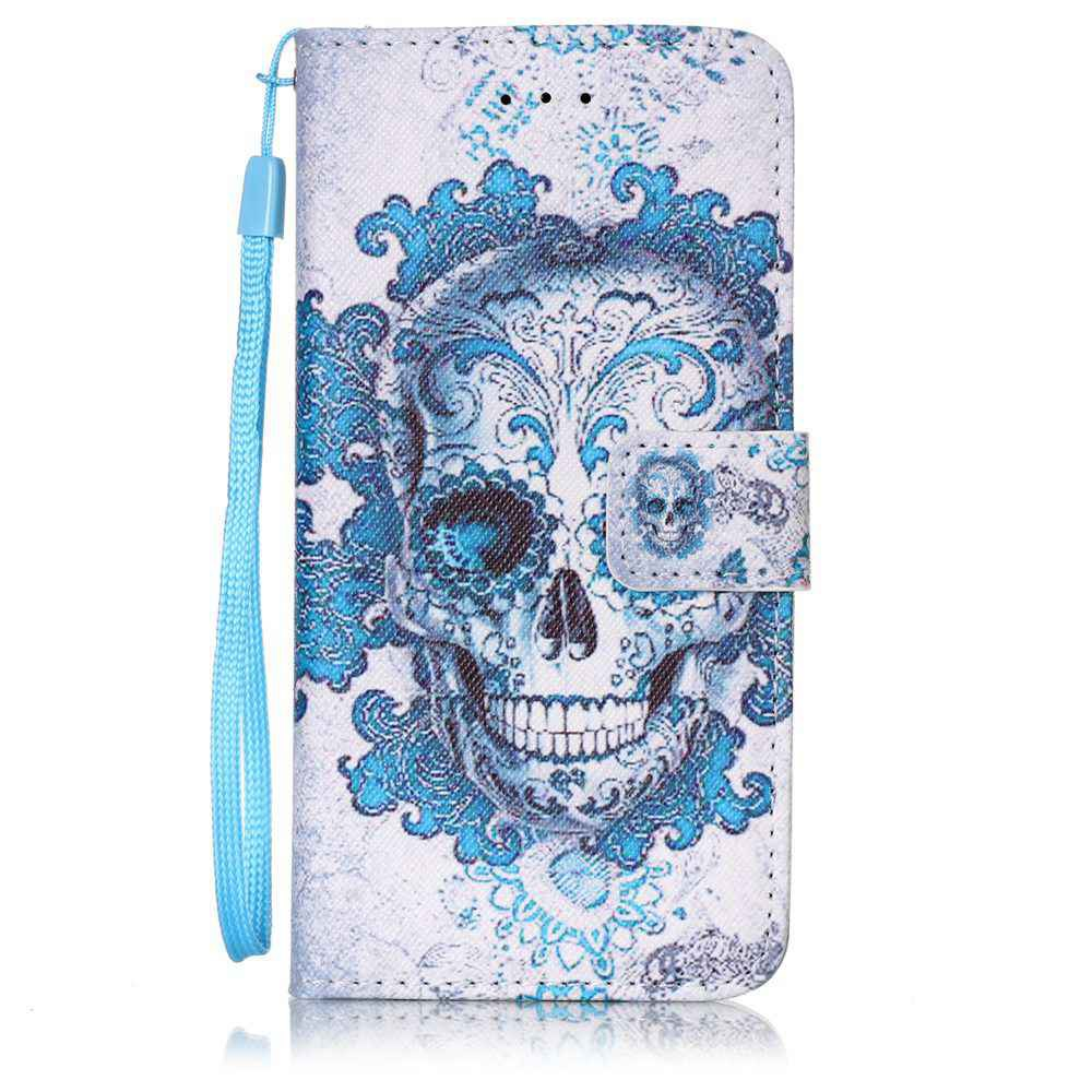 Outfits Painted PU Phone Case for iPhone 6 Plus / 6S Plus