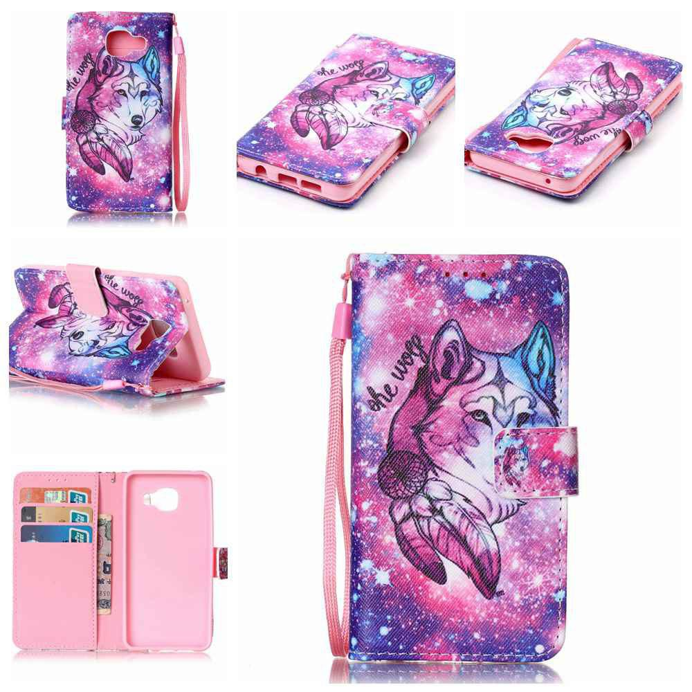 Unique The New Painted PU Phone Case for Samsung Galaxy A3 2016