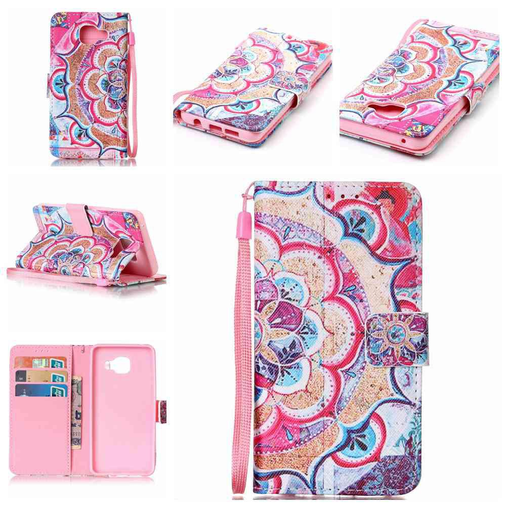 Outfits The New Painted PU Phone Case for Samsung Galaxy A3 2016
