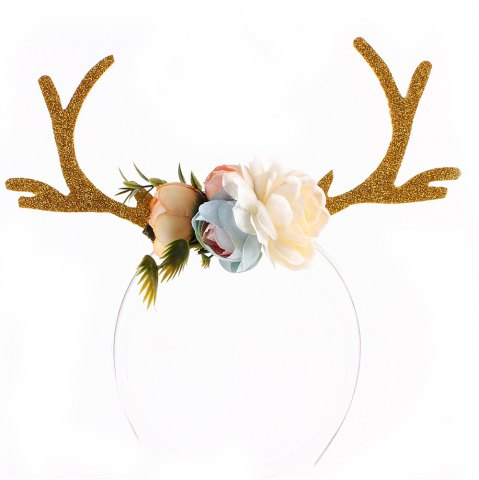 Hot Christmas Gift Style Plum Elk Antlers Hair Band for Children