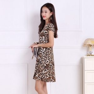 Women's Leopard Increase Prints Dresses -