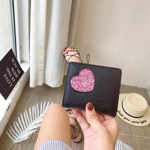 Blocking Small Compact PU Leather Pocket Wallet for Women -