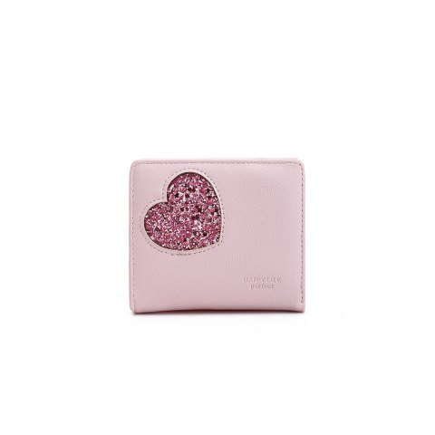 Fashion Blocking Small Compact PU Leather Pocket Wallet for Women
