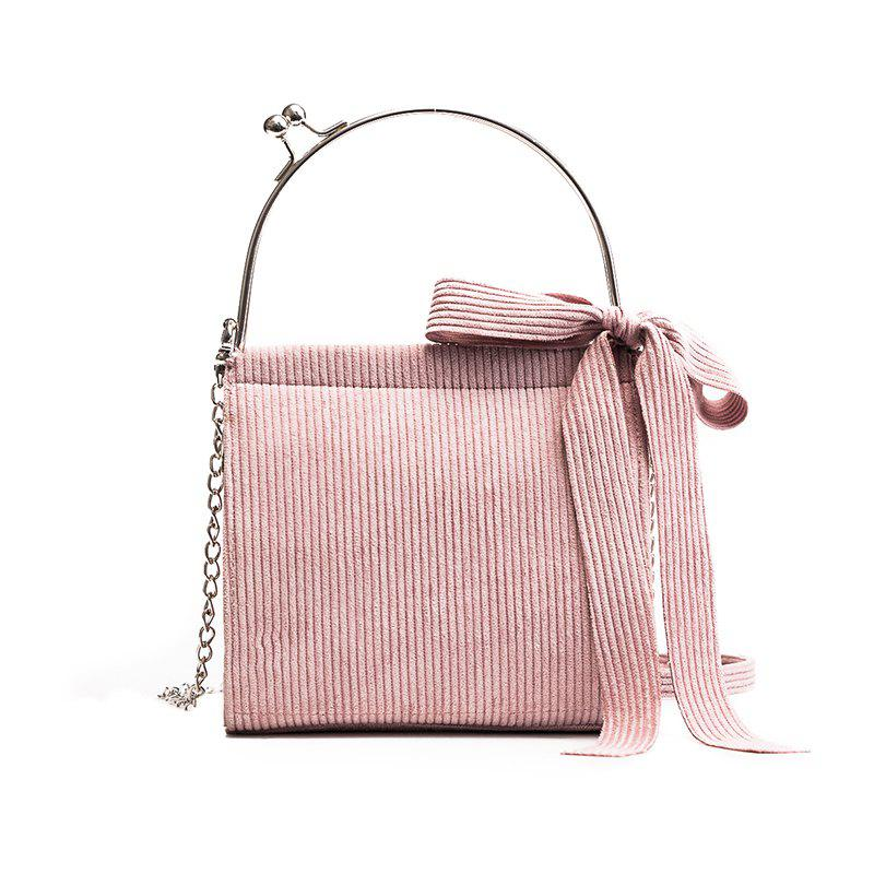 Fashion Solid Color Small Shoulder Crossbody Bags for WomenSHOES &amp; BAGS<br><br>Color: PINK;