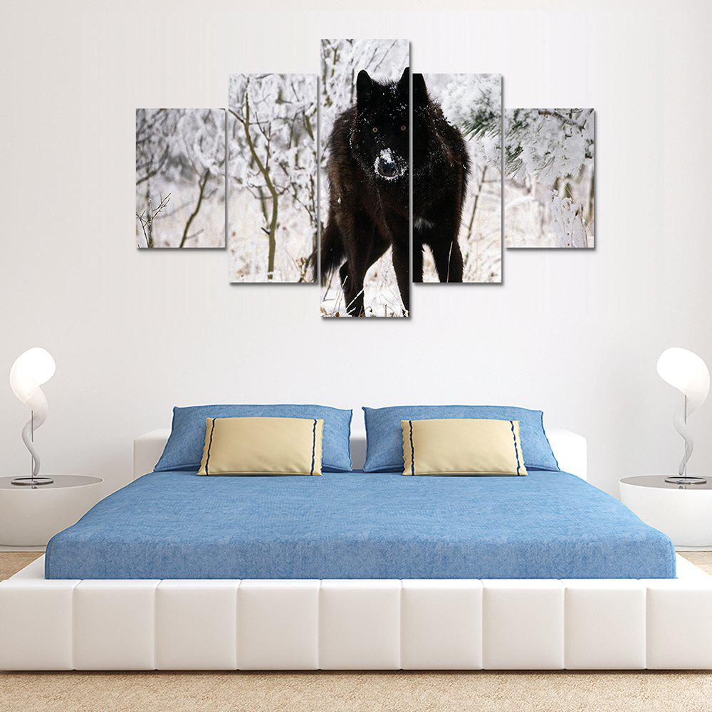 Modern Wolf Canvas Home Decoration Print 5PCSHOME<br><br>Color: COLORMIX; Material: Canvas; Shape: Vertical; Craft: Print; Form: Five Panels; Painting: Without Inner Frame; Subjects: Animal; Style: Others; Suitable Space: Bedroom,Dining Room,Kids Room,Living Room,Office,Study Room / Office;