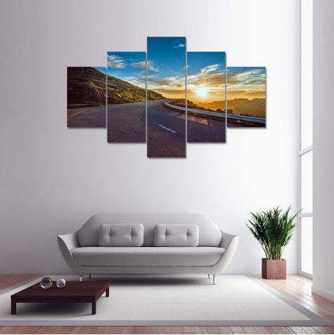 5 Panel Blue Sky Highway Canvas Print Painting Home Decoration Wall Art Picture