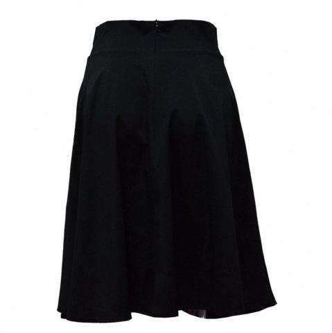Online Europe and The United States Multi-Color Solid Color Knee Skirt OL Wild Skirt