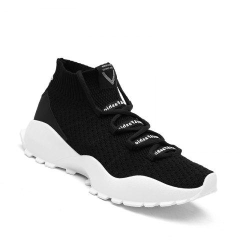 Buy High Top Men Casual Sneakers Slip On Male Fashion Footwear Walking Gum Shoes
