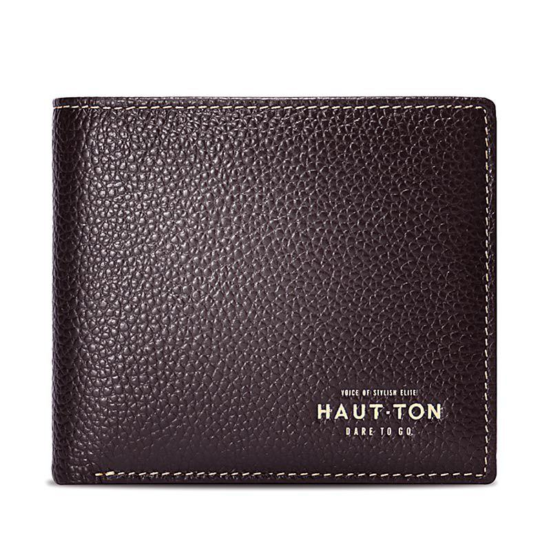 Hautton Bifold Simple Genuine Leather Wallets for Men Money Clip - Made From Full Grain LeatherSHOES &amp; BAGS<br><br>Color: COFFEE;