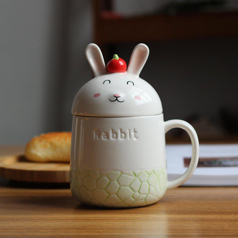 Fashion 350ML Creative Cute Rabbit Ceramic Cup