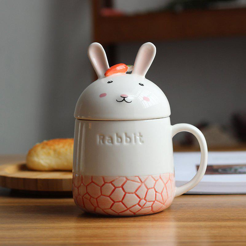 350ML Creative Cute Rabbit Ceramic CupHOME<br><br>Color: RED; Material: Ceramics; Package weight: 0.5000 kg; Product weight: 0.4000 kg; Product size (L x W x H): 8.00 x 8.00 x 8.00 cm / 3.15 x 3.15 x 3.15 inches; Package size (L x W x H): 10.00 x 10.00 x 11.50 cm / 3.94 x 3.94 x 4.53 inches; Package Contents: 1 x Cup;