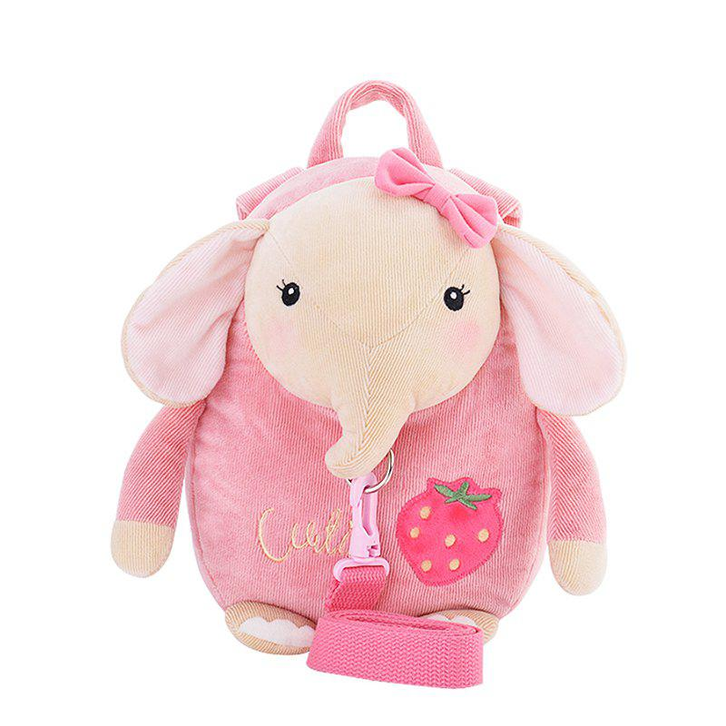 Metoo Cartoon Animal Stuffed BackpackHOME<br><br>Color: PAPAYA; Brand: Metoo; Materials: Other,PP Cotton; Theme: Leisure; Features: Stuffed and Plush; Series: Lifestyle;