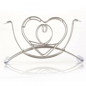 Atongm Stainless Steel Bathroom Heart Shape Toothbrush Holder Stand -