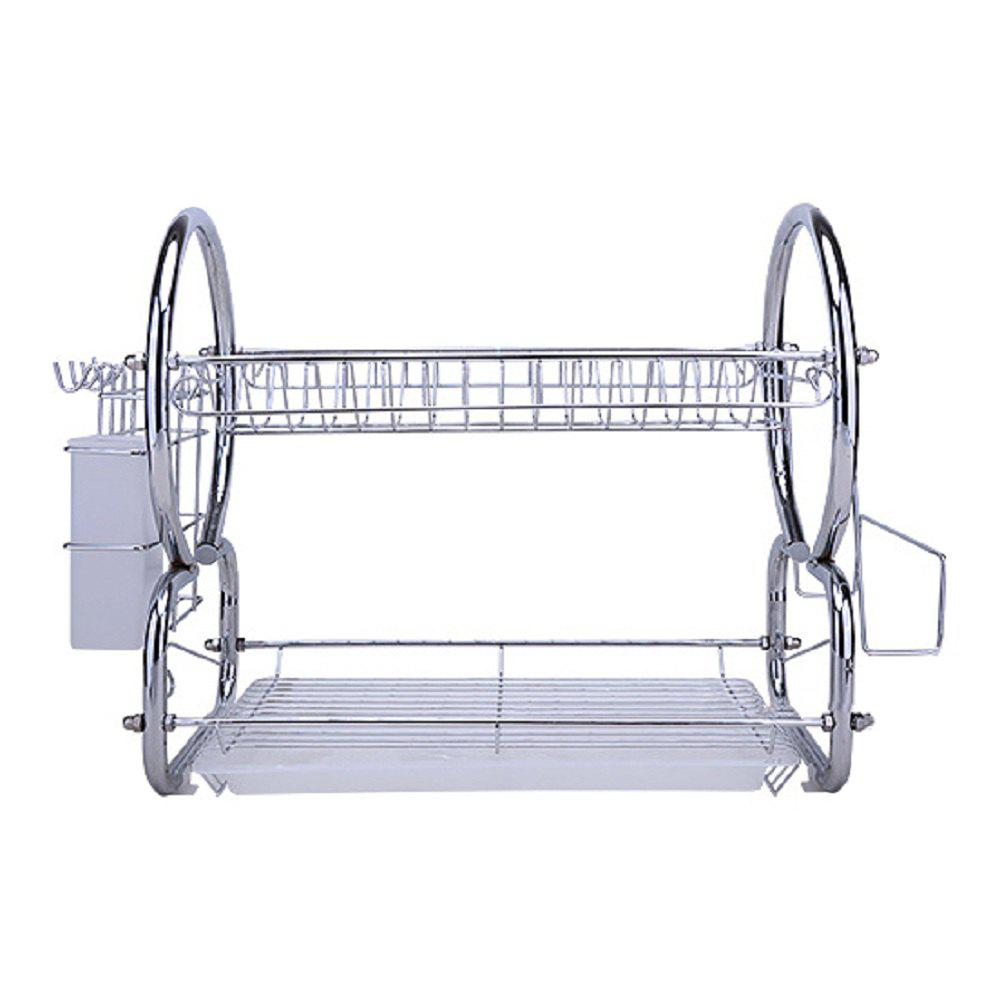Atongm Dish Rack Kitchen Dish Cup Tray Cutlery Plate Drying Rack Drainer Dryer Holder Organizer 234737301