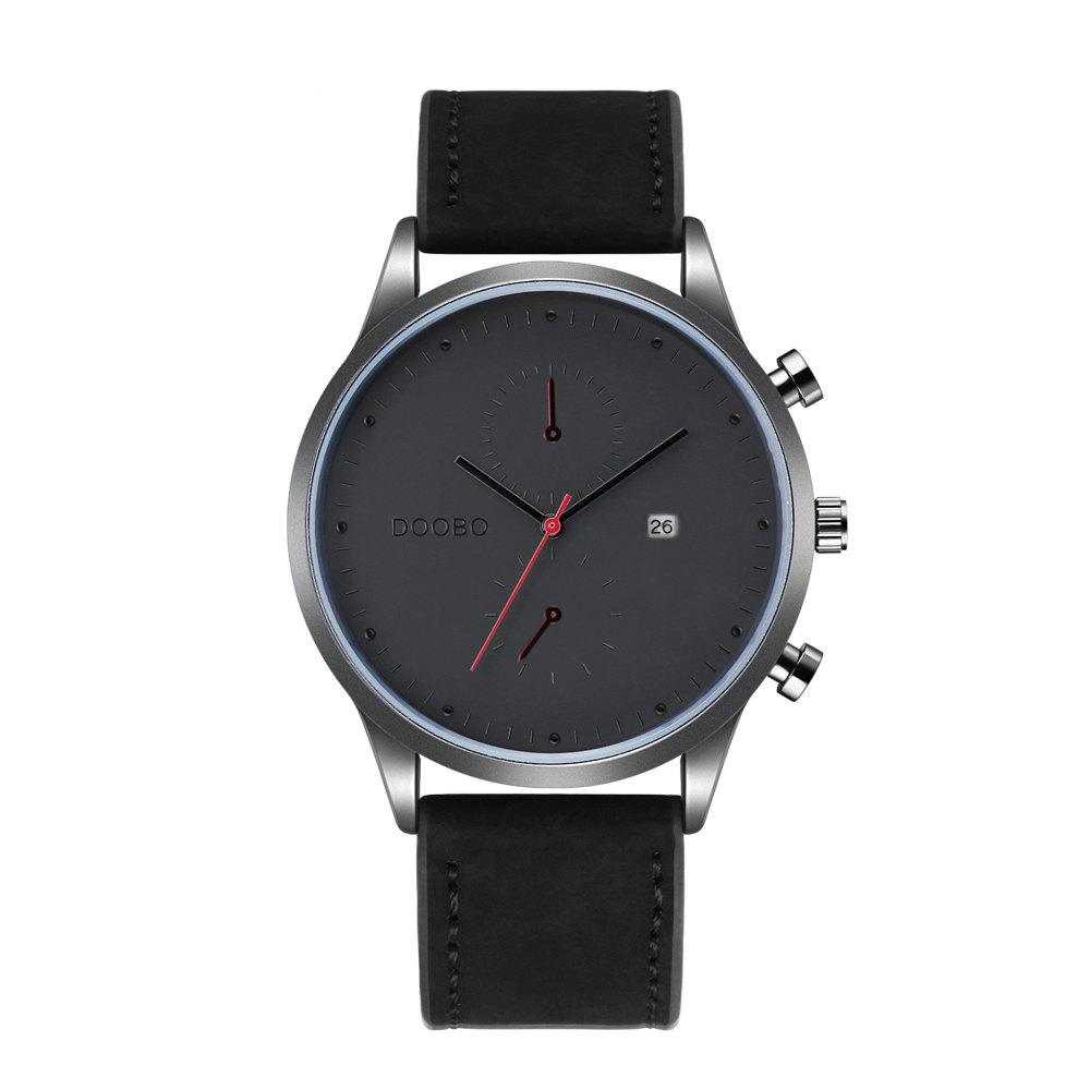 DOOBO D019 4757 Leisure Waterproof Band Quartz Men Watch with BoxJEWELRY<br><br>Color: BLACK; Brand: DOOBO; Watches categories: Men; Watch style: Business,Casual,Fashion;
