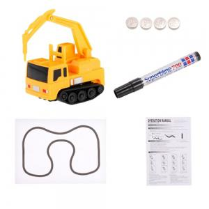 Magic Mini Construction Truck Excavator Black Drawn Line Toy Car -