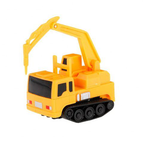 Cheap Magic Mini Construction Truck Excavator Black Drawn Line Toy Car