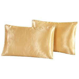 Fake Silk Invisible Zipper Pillowcase 2PCS -