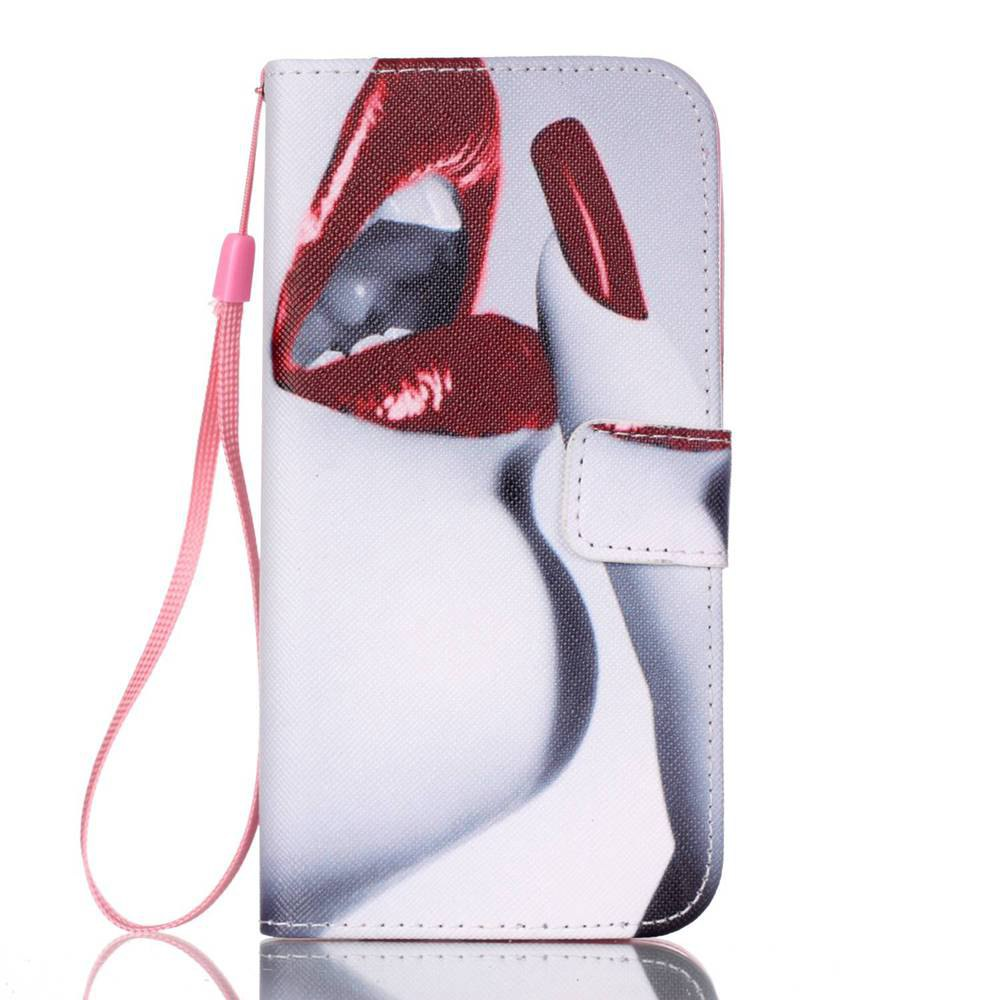 Lip Painted PU Phone Case for Samsung Galaxy S7 EdgeHOME<br><br>Color: COLORMIX;
