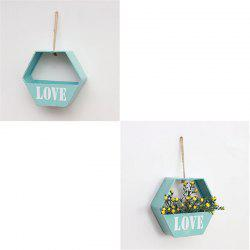 Modern Brief Style Wall Shelf Hexagon Shaped Flower Storage Rack -