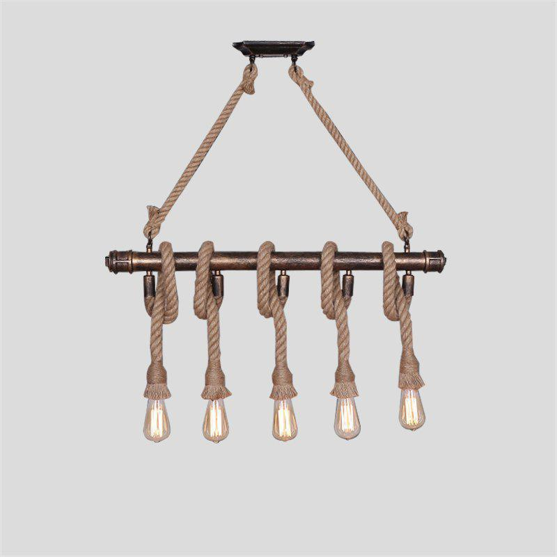 E27 / E26 Base Nordic Hemp Rope Twine Retro Vintage Pendant Light Fixtures MS - 31