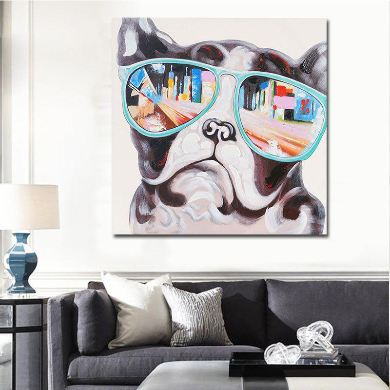 Abstrct Animal Print Modern Art Wall DecorHOME<br><br>Size: 60 X 60CM; Color: COLORFUL; Material: Canvas; Shape: Square; Craft: Print; Form: One Panel; Painting: Without Inner Frame; Subjects: Animal; Style: Modern Style; Suitable Space: Cafes,Dining Room,Kids Room,Living Room,Office;