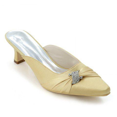 Hot Women's Shoes with High Heels Square Wedding Shoes