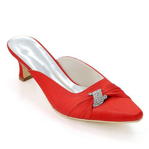 New Women's Shoes with High Heels Square Wedding Shoes