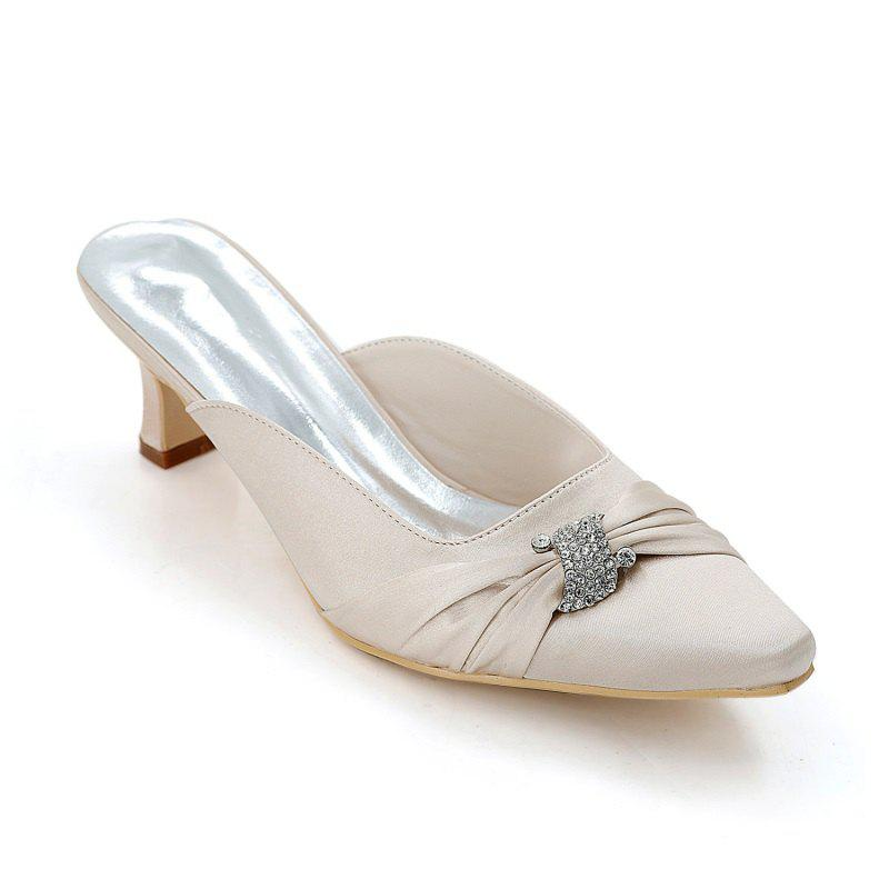 Outfit Women's Shoes with High Heels Square Wedding Shoes
