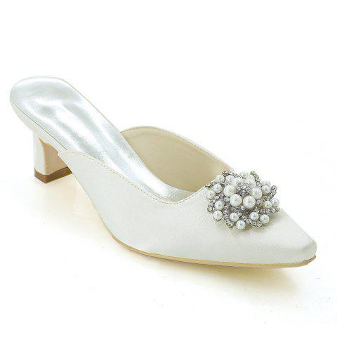Affordable Coarse Women's Shoes with High Heels Square Wedding Slippers