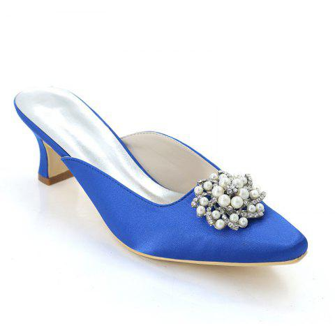 Buy Coarse Women's Shoes with High Heels Square Wedding Slippers