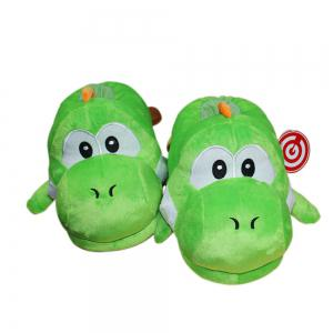 Game Super Mario Yoshi Plush Slippers  Stuffed Shoes One Size -