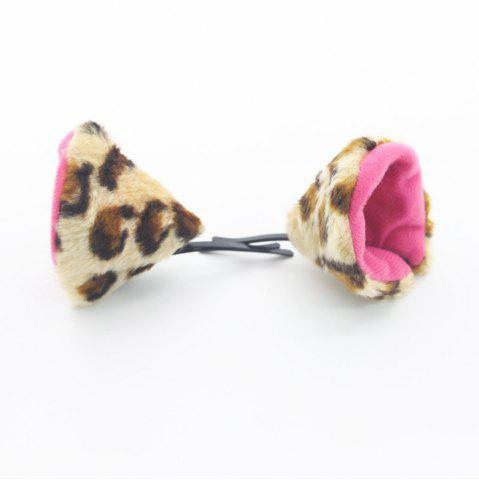 Кошачьи уши для волос Cosplay Headwear Animal Role Play Props Leopard Print