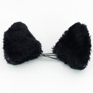 Cat Ears Hair Clip Cosplay Headwear Black Ears Animal Role Play Props -