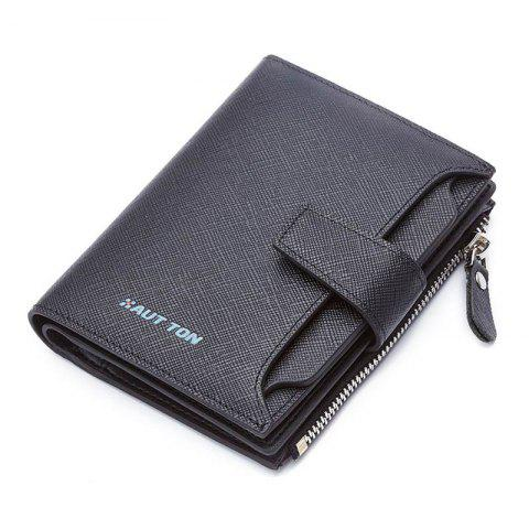 Trendy HAUT TON Genuine Leather Bifold Trifold Wallets for Men Removable Flipout Card Holder