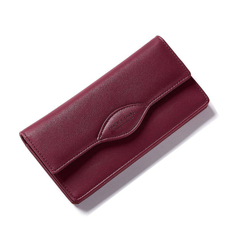 Fashion Women Long Wallets PU Leather High Quality Wallet for LadySHOES &amp; BAGS<br><br>Color: WINE RED; Wallets Type: Money Clip; Gender: For Women; Style: Casual; Closure Type: Hasp,Zipper; Pattern Type: Letter; Main Material: Polyester,PU; Interior: Interior Compartment,Interior Zipper Pocket; Embellishment: Letter; Height: 2.8; Width: 9.6; Length(CM): 19.2; Product weight: 0.2000 kg; Package weight: 0.2000 kg; Package size (L x W x H): 21.00 x 15.00 x 3.00 cm / 8.27 x 5.91 x 1.18 inches; Package Contents: 1 x Wallet;