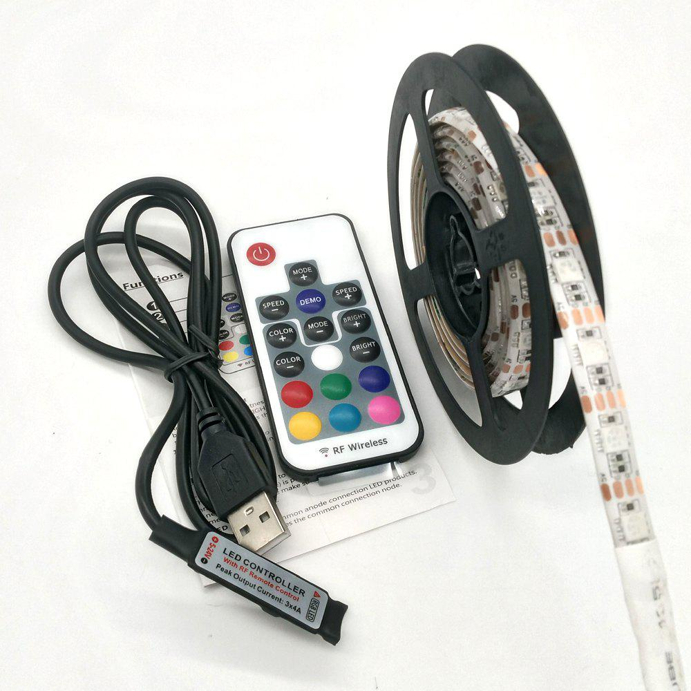 ZDM 5V 15 - 30W 5050 100 / 200CM USB Waterproof RGB LED Light Strip with 17 Key IR Controller DC 5VHOME<br><br>Size: 100CM; Color: WHITE; Brand: ZDM; Type: RGB Strip Lights,Waterproof; Light Source Color: RGB; Length ( m ): 1; Light color: RGB; Wattage (W): 15; Voltage: DC 5V; Power Supply: USB; Features: Color-changing,Festival Lighting,with Remote Control; Width( mm ): 10; Waterproof Rate: IP65; Mode: Waterproof; Light Source: 5050 SMD,LED; Beam Angle: 120; LED Quantity: 60 - 120; Color Temperature or Wavelength: RGB;