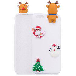 Christmas Tree Santa Claus Reindeer 3D Cartoon Animals Soft Silicone TPU Case for iPhone 6 Plus / 6S Plus -