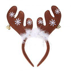 Cute Christmas Bells Headband Antlers Head Hoop Holiday Decoration -